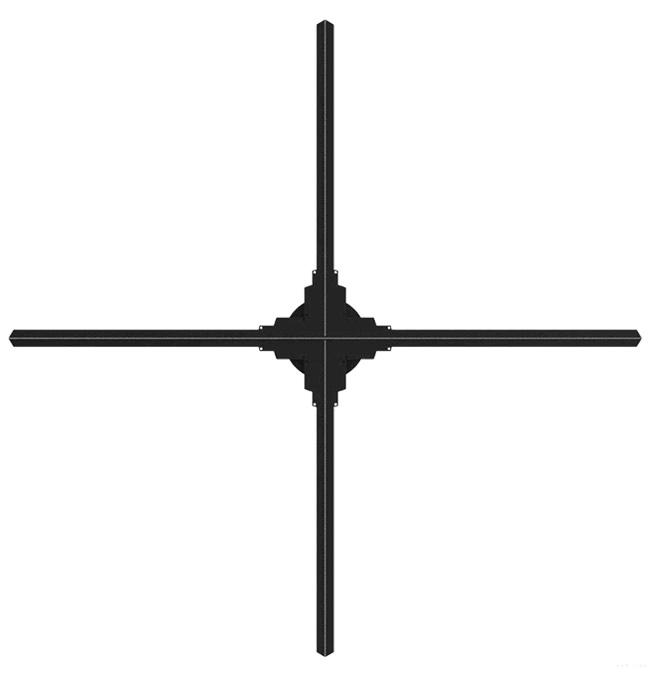 ventilador holografico quatro helices