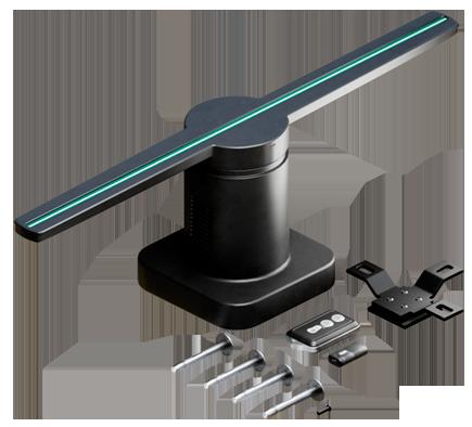 peças de ventilador holografico para montagem e fixação